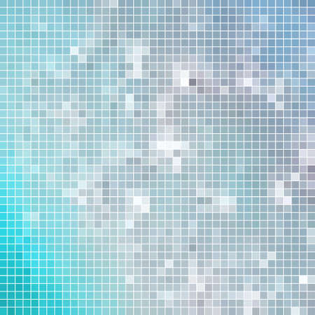 abstract vector square pixel mosaic background - light blue 向量圖像