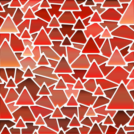 abstract vector stained-glass mosaic background - red triangles Ilustrace