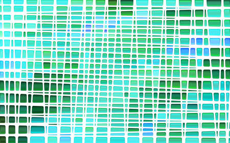 abstract vector stained-glass mosaic background - green and blue Ilustrace