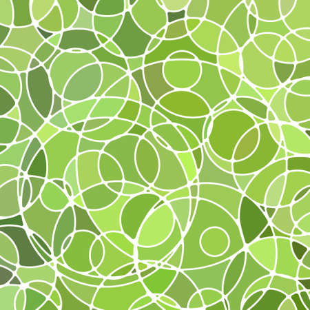 abstract vector stained-glass mosaic background - green circles Ilustrace