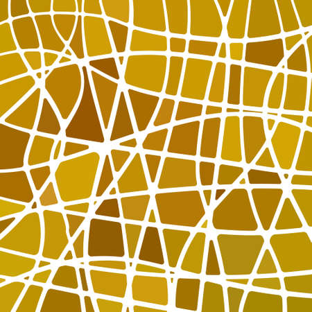 abstract vector stained-glass mosaic background - brown and yellow 向量圖像