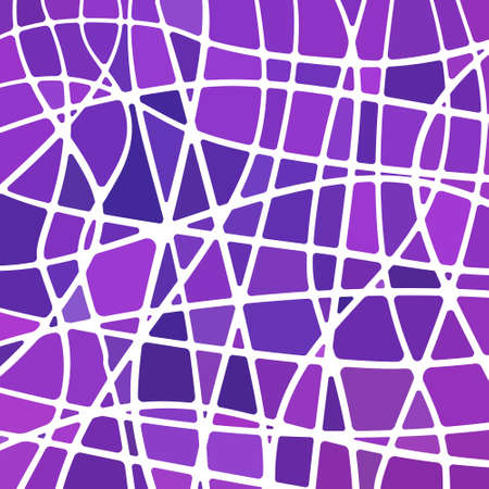 abstract vector stained-glass mosaic background - purple and violet