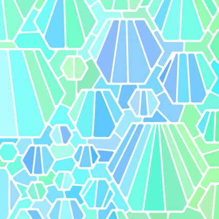 abstract vector stained-glass mosaic background - light blue Ilustrace