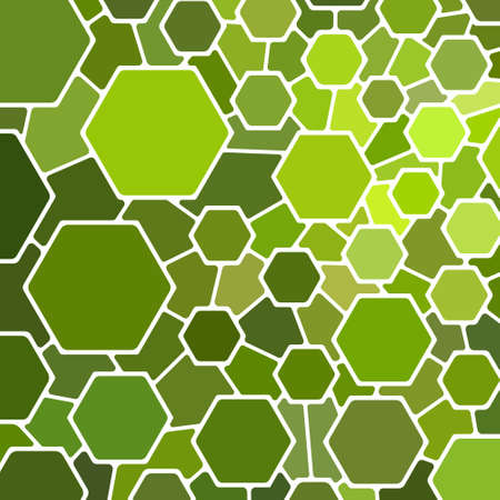 abstract vector stained-glass mosaic background - green and yellow Ilustrace