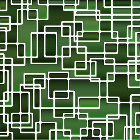 abstract vector stained-glass mosaic background - dark green Ilustrace