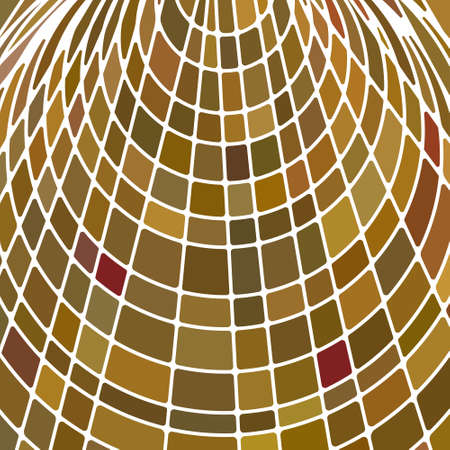 abstract vector stained-glass mosaic background - yellow and brown