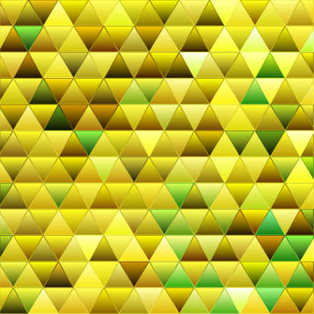 abstract vector stained-glass triangle mosaic background - yellow
