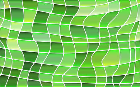 abstract vector stained-glass mosaic background - bright green Illusztráció