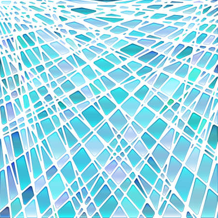 abstract vector stained-glass mosaic background - light blue Foto de archivo - 168178015