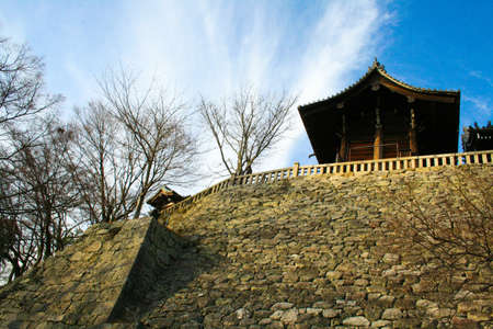 pavilion: Pavilion on the great wall at Kiyomizu temple,Japan Stock Photo