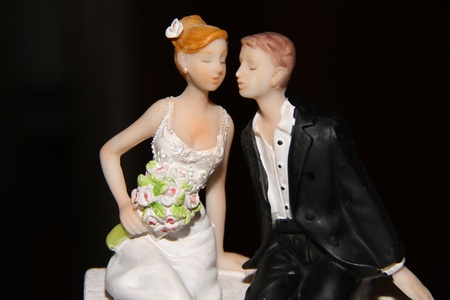 wedding decoration on the cake photo