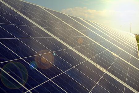 Power plant using renewable solar energy. photo