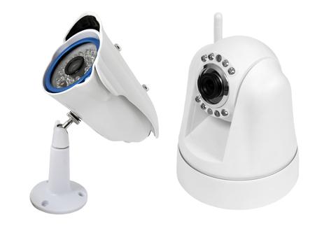 ir: surveillance camera , studio shot