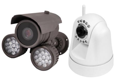 surveillance camera , studio shot photo