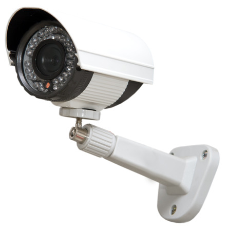ip camera: Day & Night Color IP surveillance camera isolated on white background
