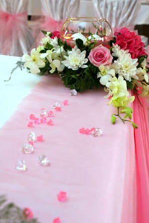 wedding decorations with orchids photo