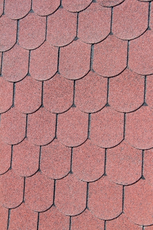 roof shingles: Seamless red clay roof tiles Stock Photo
