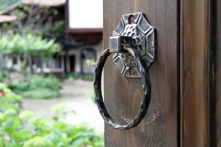 door knob: Old door knocker Stock Photo