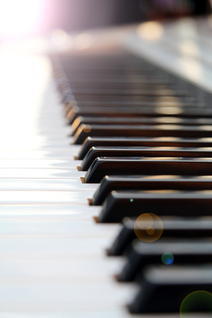 Close up of piano keyboard. photo