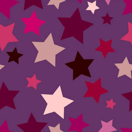 girlish: seamless pattern with stars berry girlish colors