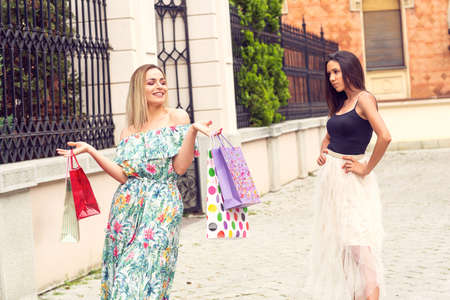Shopping time - Jealous young girls shopping and arguing