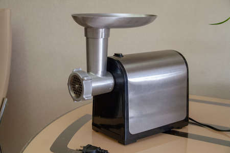 Household electric meat grinder.