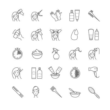 Haarfärbegerät Symbole für Ihr Design