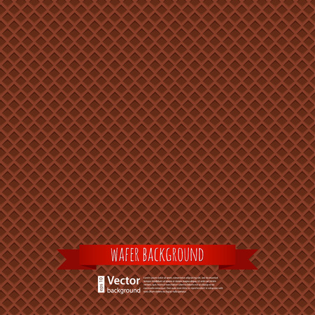 crispy: chocolate waffles background for your design Illustration