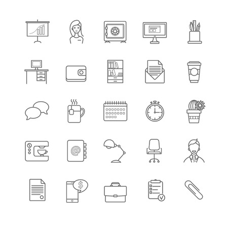 office workspace icons for your design