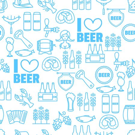 seamless background of Oktoberfest for your design Illustration