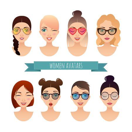 userpic: Set of women avatars for your design