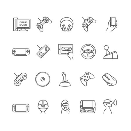 handheld device: video games, gadget icons for your design