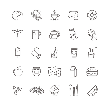 icons: breakfast icons