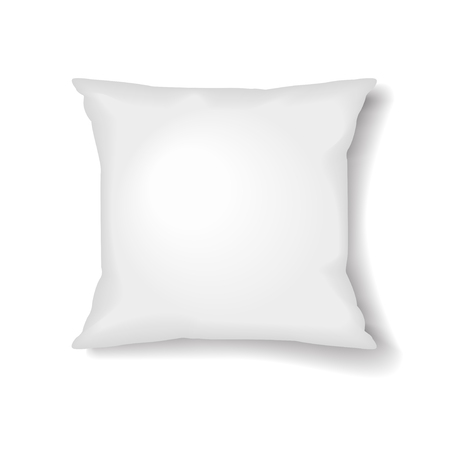 Square Pillow Template Isolated on White Background