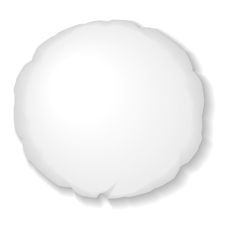 Round Pillow Template Isolated on White Background