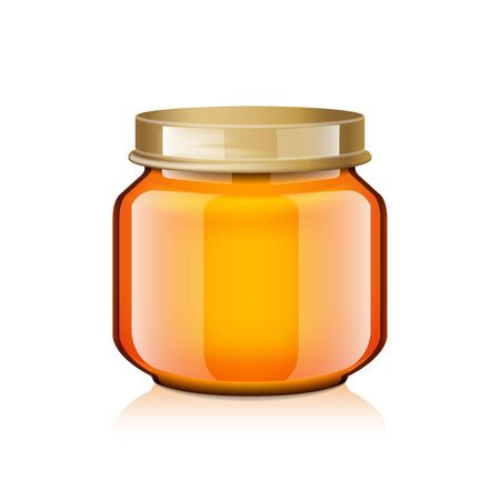 Glass Jar Mock Up For Honey, Jam, Jelly or Baby Food Puree