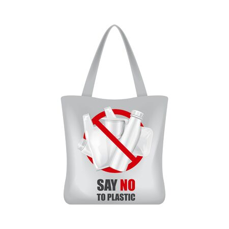 Eco shopping bag for your brand. Vector package template