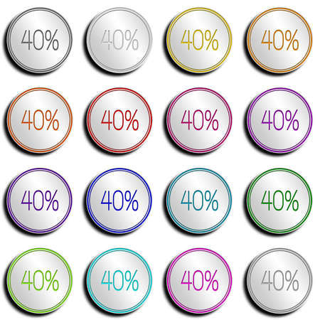 shiny metal: Shiny metal button with different colors. Stock Photo