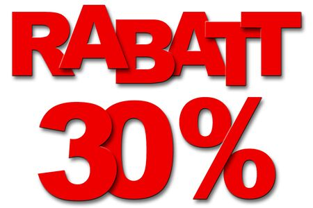 rebate: Typography sale, discount, purchase Stock Photo