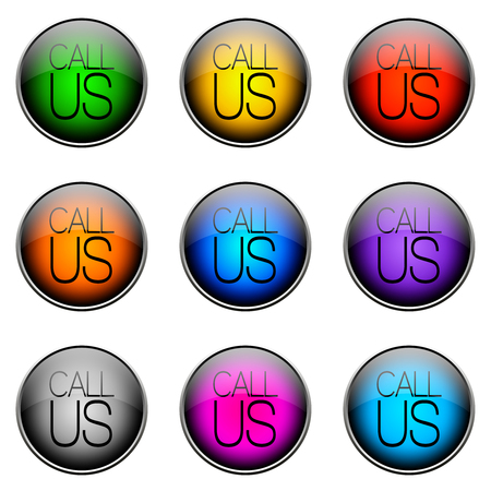 dom: Colorful buttons with different topics. Button Color CALLUS