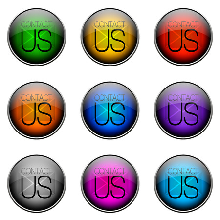 contactus: Colorful buttons with different topics. Button Color CONTACTUS