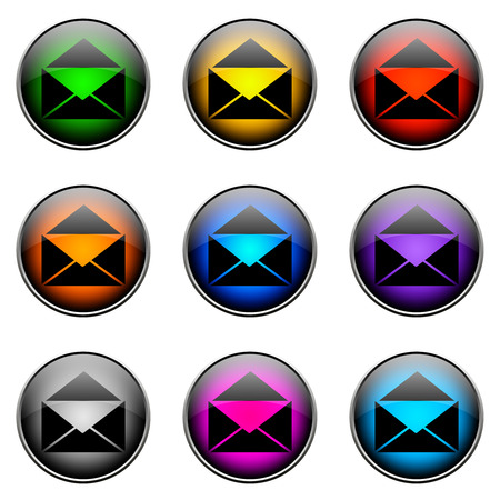 topics: Colorful buttons with different topics. Button Color EMAIL