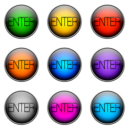 log off: Colorful buttons with different topics. Button Color ENTER