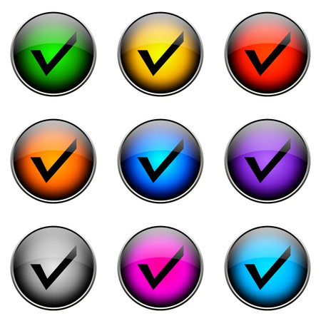 off the hook: Colorful buttons with different topics. Button Color HOOK
