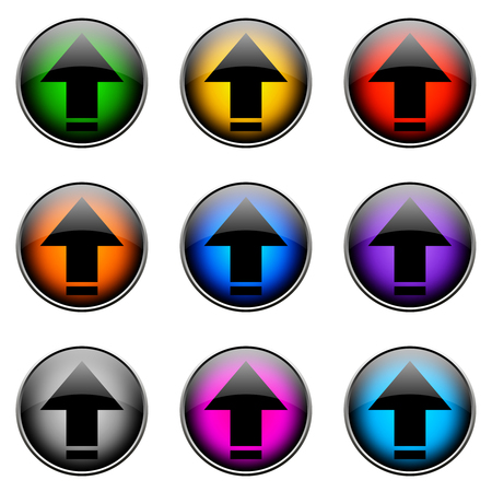 topics: Colorful buttons with different topics. Button Color UPLOAD
