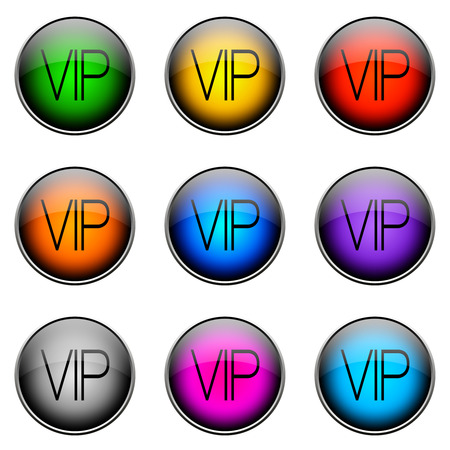 topics: Colorful buttons with different topics. ButtonColor VIP