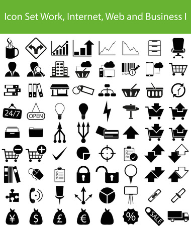 ec: Icon Set Work, Internet, Web and Business I with 72 icons for different purchase