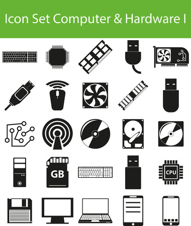 networked: Icon Set Computer_Hardware I with 25 icons for different purchase