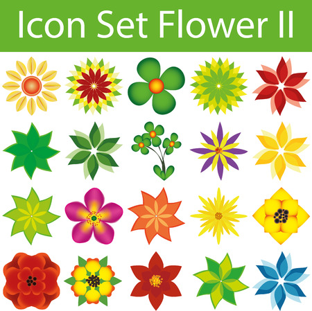 Icon Set Flowers II with 20 icons for different purchase Vector