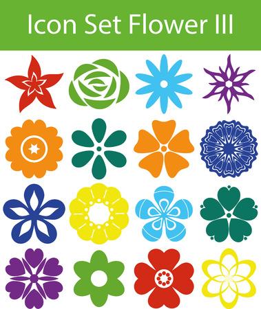 Icon Set Flowers III con 16 icone per l'acquisto diverso Archivio Fotografico - 40698258
